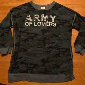 Sundry Tops - Army of Lovers Sundry Sweatshirt.